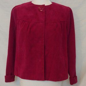 Studio Works Fuchsia Pink Blazer Jacket Size 4P